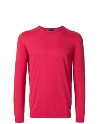 Jersey con cuello circular rosa de Drumohr