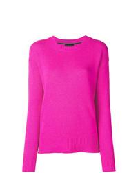 Jersey con cuello circular rosa de Etro