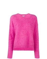 Jersey con cuello circular rosa de Helmut Lang