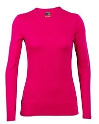 Jersey con cuello circular rosa de Ice Breaker