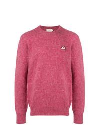 Jersey con cuello circular rosa de MAISON KITSUNÉ