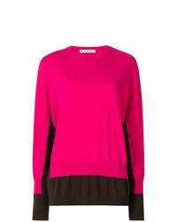 Jersey con cuello circular rosa de Marni
