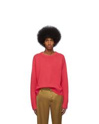 Jersey con cuello circular rosa de Sies Marjan