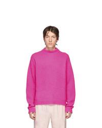Jersey con cuello circular rosa de Tibi