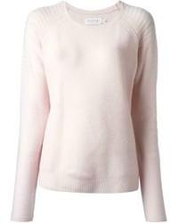 Jersey con cuello circular rosado original 1331439