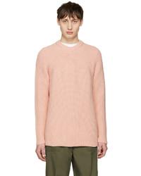 Jersey con cuello circular rosado de Acne Studios
