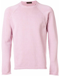 Jersey con cuello circular rosado de Altea