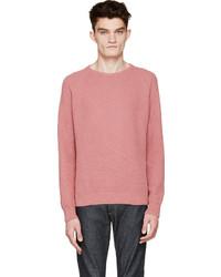 Jersey con cuello circular rosado de Ami