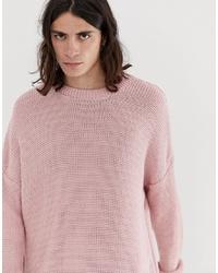 Jersey con cuello circular rosado de ASOS DESIGN