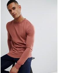 Jersey con cuello circular rosado de Brave Soul