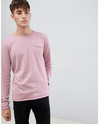 Jersey con cuello circular rosado de D-struct