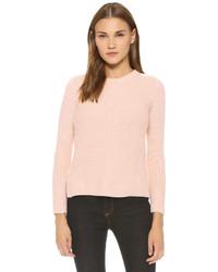 Jersey con cuello circular rosado de Madewell