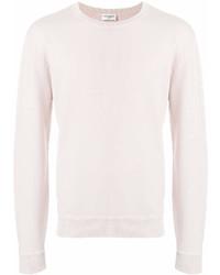 Jersey con cuello circular rosado de Saint Laurent