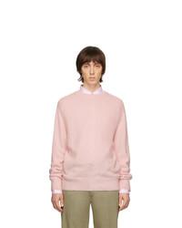 Jersey con cuello circular rosado de Thom Browne