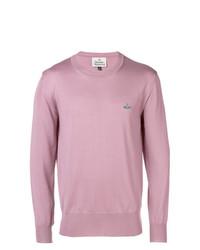 Jersey con cuello circular rosado de Vivienne Westwood