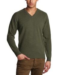 Jersey con cuello circular verde oliva de Al Andalus