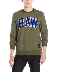 Jersey con cuello circular verde oliva de G-Star RAW