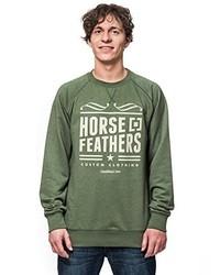 Jersey con cuello circular verde oliva de Horsefeathers