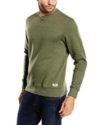 Jersey con cuello circular verde oliva de Vans