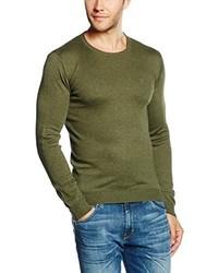 Jersey con cuello circular verde oliva de Wrangler