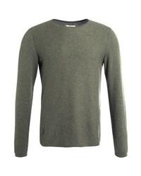 Jersey con cuello circular verde oliva de Zalando Essentials