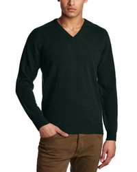 Jersey con cuello circular verde oscuro de Al Andalus