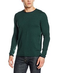 Jersey con cuello circular verde oscuro de Boss Orange