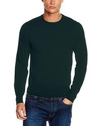 Jersey con cuello circular verde oscuro de Brooks Brothers