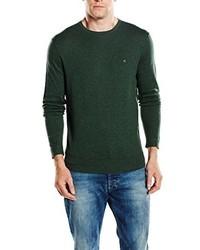 Jersey con cuello circular verde oscuro de Calvin Klein Tailored