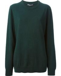 Jersey con cuello circular verde oscuro de Dolce & Gabbana
