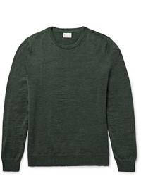 Jersey con cuello circular verde oscuro de Gant