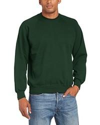 Jersey con cuello circular verde oscuro