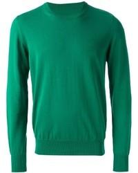Jersey con cuello circular verde oscuro de Maison Margiela