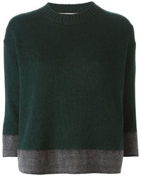 Jersey con cuello circular verde oscuro de Marni
