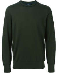 Jersey con cuello circular verde oscuro de Paul Smith