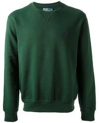 Jersey con cuello circular verde oscuro de Ralph Lauren