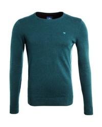 Jersey con Cuello Circular Verde Oscuro de Tom Tailor