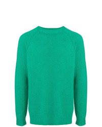Jersey con cuello circular verde de A.P.C.