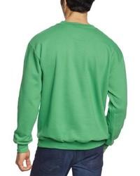 Jersey con cuello circular verde de Anvil