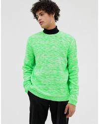 Jersey con cuello circular verde de ASOS DESIGN