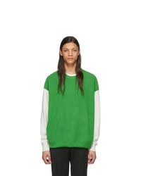 Jersey con cuello circular verde de Givenchy