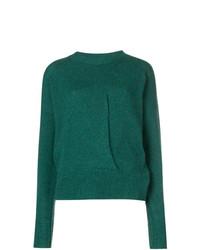 Jersey con cuello circular verde de Isabel Marant