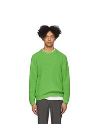 Jersey con cuello circular verde de Issey Miyake Men