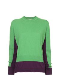 Jersey con cuello circular verde de Marni
