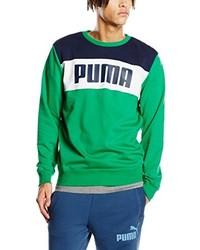 Jersey con cuello circular verde de Puma