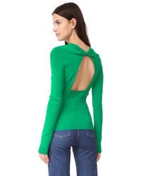 Jersey con Cuello Circular Verde de Rochas