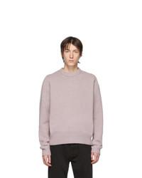 Jersey con cuello circular violeta claro de Acne Studios