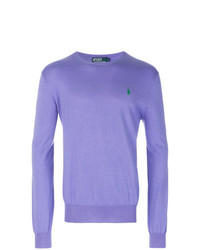 Jersey con cuello circular violeta claro de Polo Ralph Lauren
