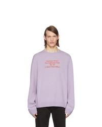 Jersey con cuello circular violeta claro de Raf Simons