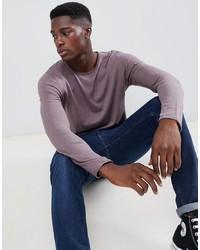 Jersey con cuello circular violeta claro de Selected Homme